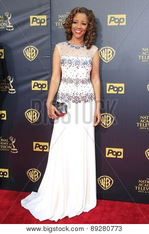 BURBANK - APR 26: Chrystee Pharris at the 42nd Daytime Emmy Awards Gala at Warner Bros. Studio on April 26, 2015 in Burbank, California