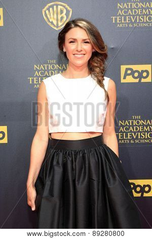 BURBANK - APR 26: Elizabeth Hendrickson at the 42nd Daytime Emmy Awards Gala at Warner Bros. Studio on April 26, 2015 in Burbank, California
