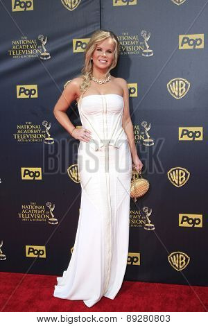 BURBANK - APR 26: Crystal Hunt at the 42nd Daytime Emmy Awards Gala at Warner Bros. Studio on April 26, 2015 in Burbank, California