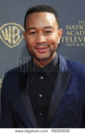 BURBANK - APR 26: John Legend at the 42nd Daytime Emmy Awards Gala at Warner Bros. Studio on April 26, 2015 in Burbank, California
