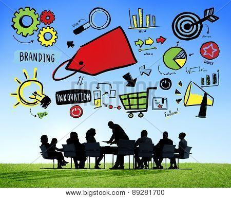 Business People Branding Team Meeting Brainstorming Concept