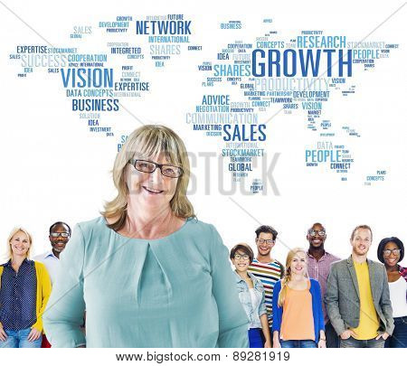 Global Business People Togetherness Community Success Growth Concept