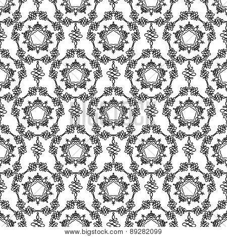 Ornamental seamless pattern. Vintage style.