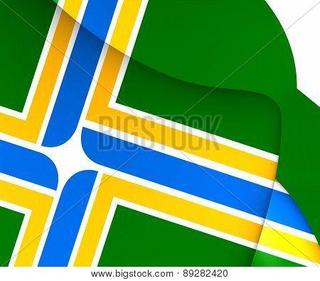Flag Of Portland, Usa.