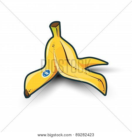 Banana Peel With Shadow
