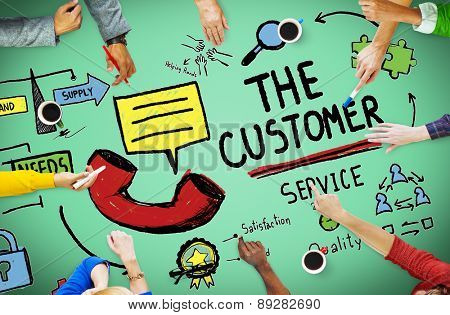 Customer Service Support Solution Assistance Aid Concept