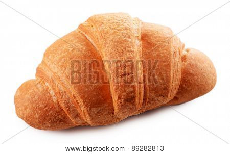 Delicious croissant isolated on white