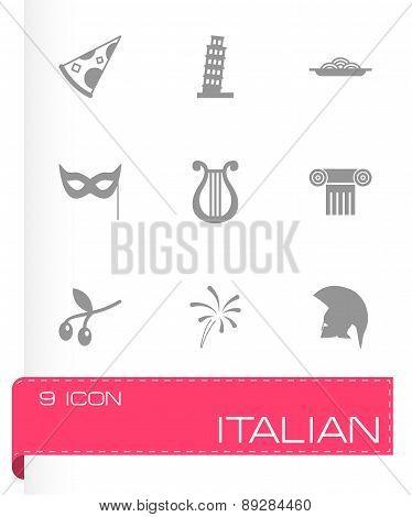 Vector italian icon set