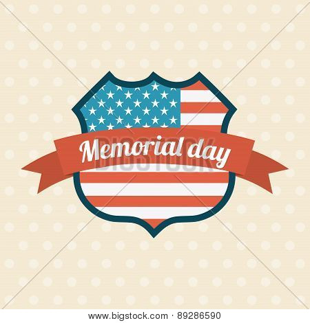 Memorial Day design over beige background vector illustration