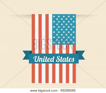 USA design over beige background vector illustration