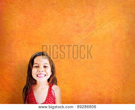 Little Girls Adorable BEautiful Cheerful Smiling Concept