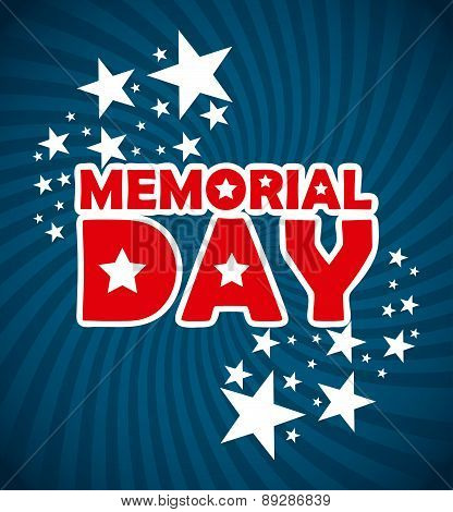 Memorial Day design over blue background vector illustration