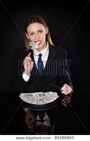 woman  in a business suit