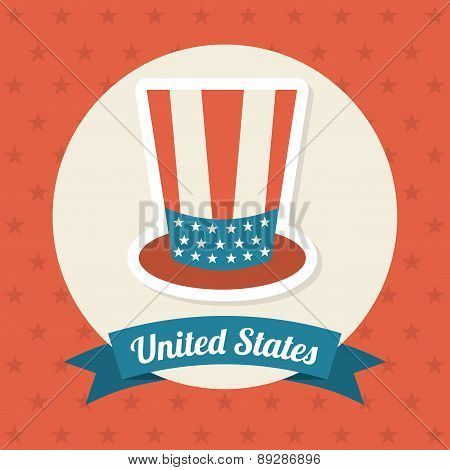 USA design over red background vector illustration