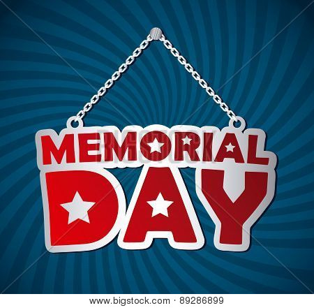 Memorial Day design over  background vector illustration