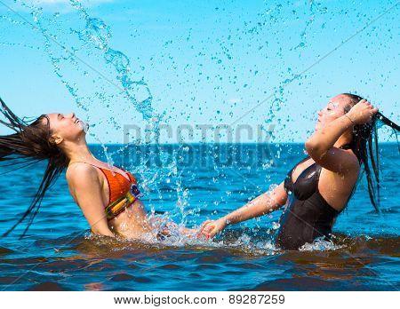 Laughing Carefree Couple Enjoying
