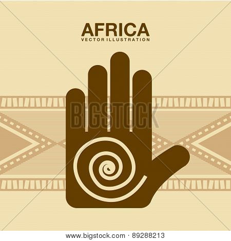 Africa design over beige background vector illustration