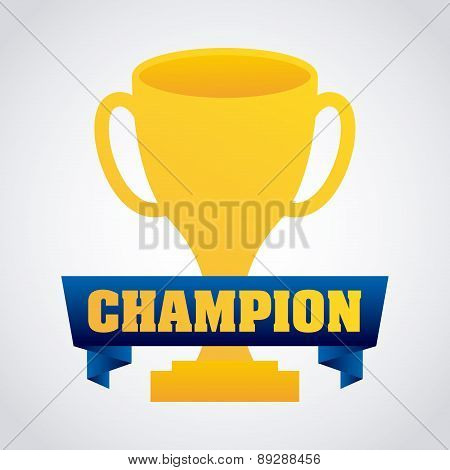 Champion design over  background vector illustration