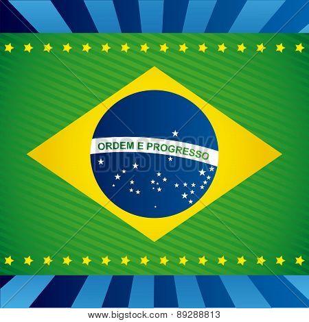 Brazil design over blue background vector illustration