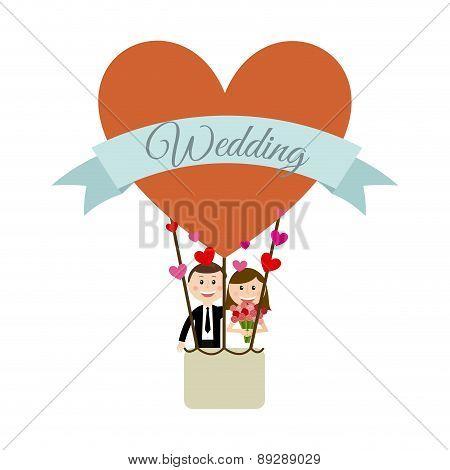 Love design over  background vector illustration