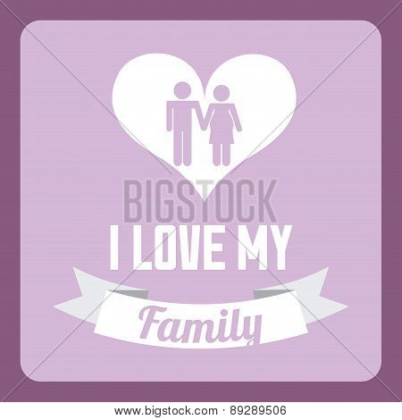 Family design over purple background vector illustration