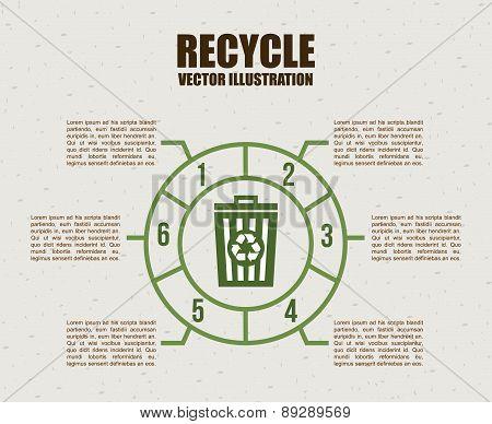 Ecology design over beige background vector illustration