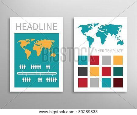 Flyer, Brochure Design Template.
