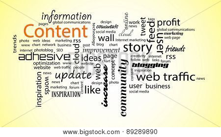 Word cloud. Content concept