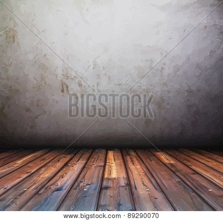 old grunge background, vintage interior, vector