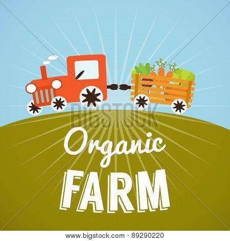 Organic Farm poster.