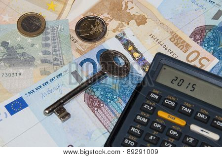 Money And Calculator And Key In Year 2015
