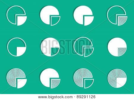 Pie Chart Diagram Icons