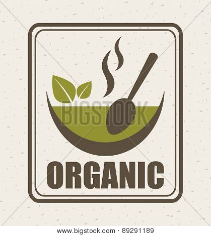 Organic food design over beige background vector illustration