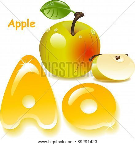 Letter A- Apple