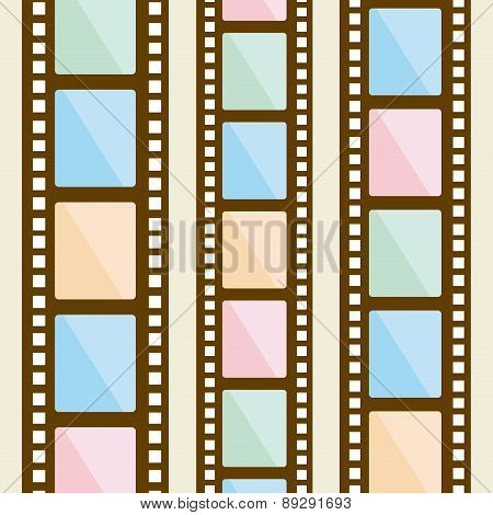 Film design over beige background vector illustration