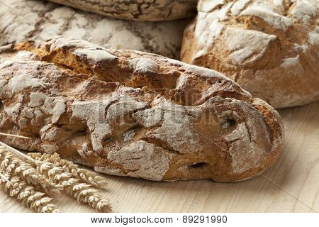 Traditional fresh german crust bread
