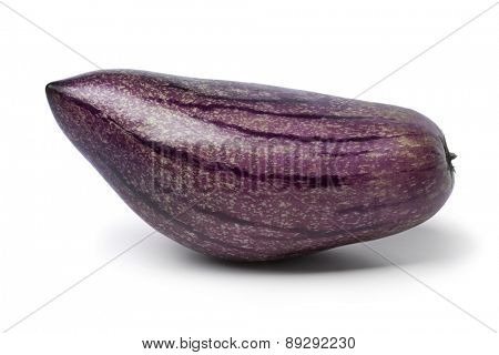 Single fresh pepino fruit on white background