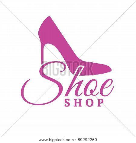 Shoe Shop Pink Logo Concept