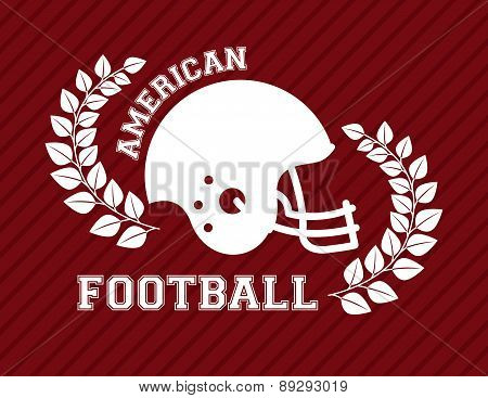 American football design over red background vector illustration