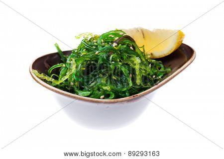 Seaweed salad Goma Wakame with nut sauce