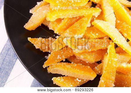 Candies from orange peel