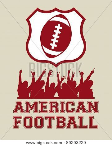 American football design over beige background vector illustrati