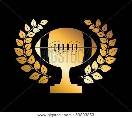 American football design over black background vector illustrati