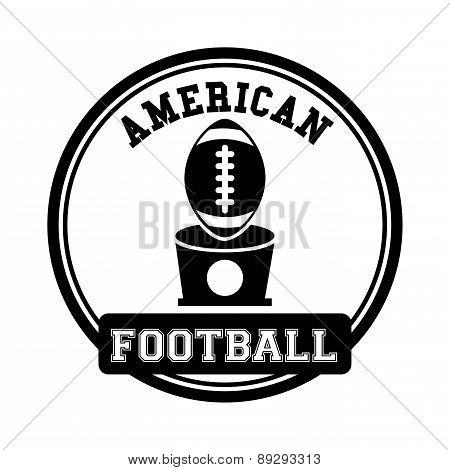 American football design over white background vector illustrati