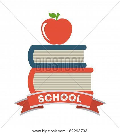 School design over white background vector illustration