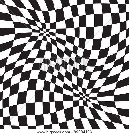 Optical illusion geometric background