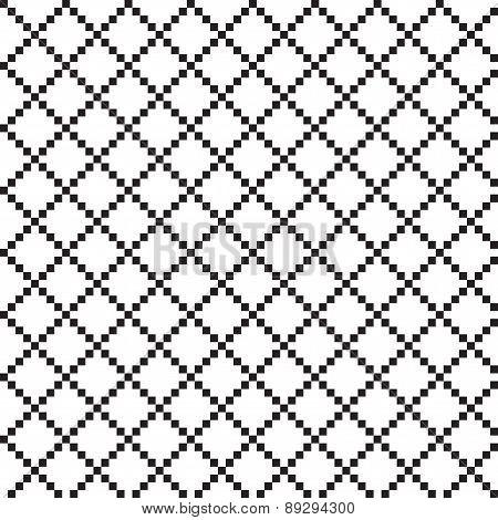 Black and white pixel seamless pattern.