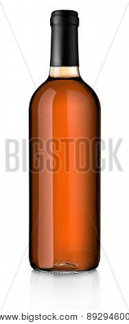 Wine bottle isolated on white