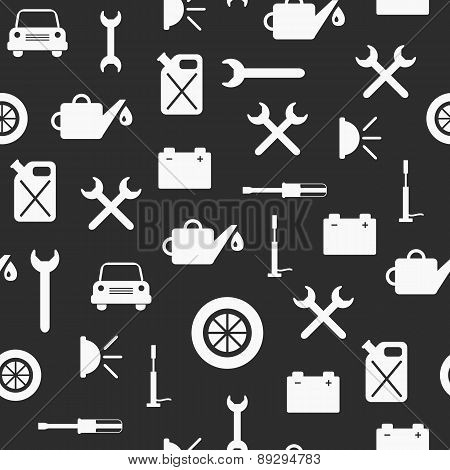 Seamless background on car repair theme