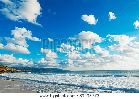 Beach Under Clouds
